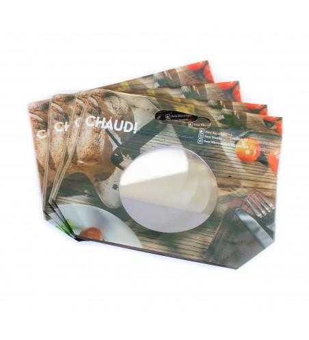 Sac imprimé POULET RÔTI 350x290x75 mm