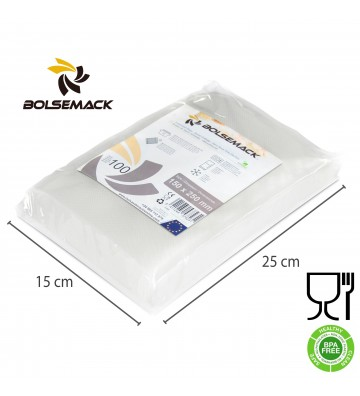 Embossed vacuum sealer bags/pouches 150x250mm (15x25cm)
