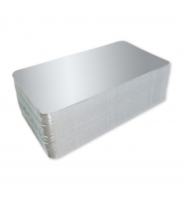 Silver Deli Meat/Fish Backing Boards 100x125 mm. (10x12,5 cm.)