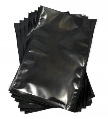 Black backed vacuum pouches...